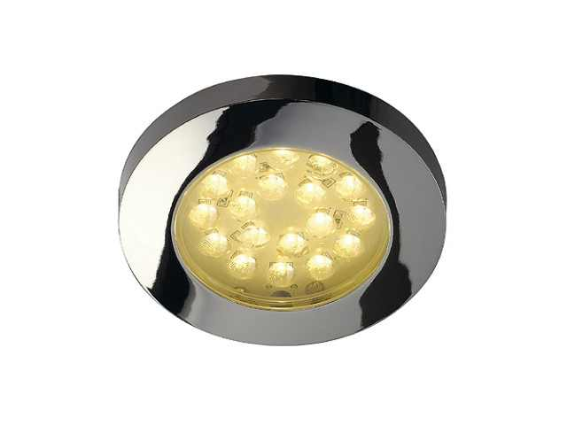 LED inbouwspot | 18 LEDs | Rond | 1,4 W | 12 Volt | Warm Wit | LW30
