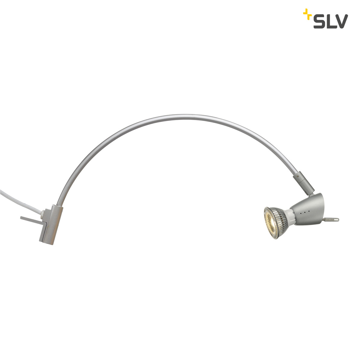 SLV | LED Kastverlichting set | 2 Lampjes | 2 x 5 Watt | LED | HIBIT zilvergrijs