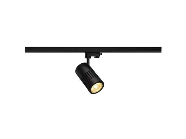 SLV | 3 Fase | STRUCTEC 1xLED 3000K 60gr | 2200lm | 24 Watt Black | Warm Wit