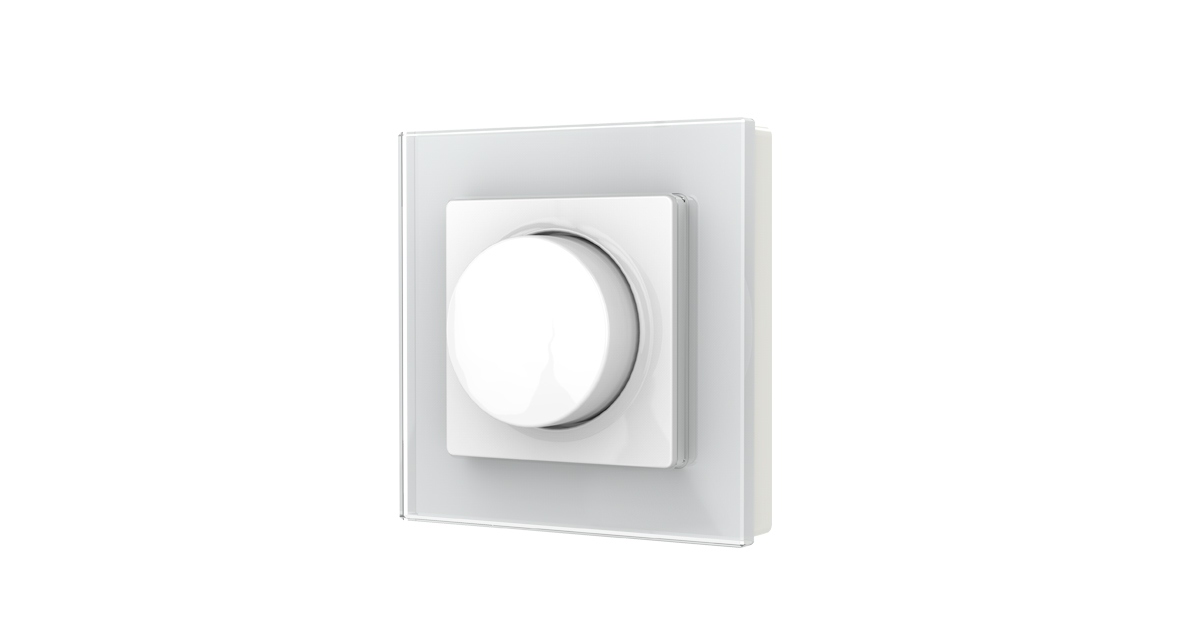 LEDw@re Dimmer |  0-220 Watt | 220 Volt | Glas plaat | Push / Draai