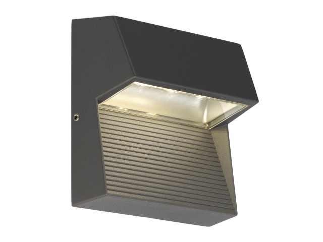 LED Wandlamp | LED DOWNUNDER SQUARE wandarmatuur, vierkant, antraciet