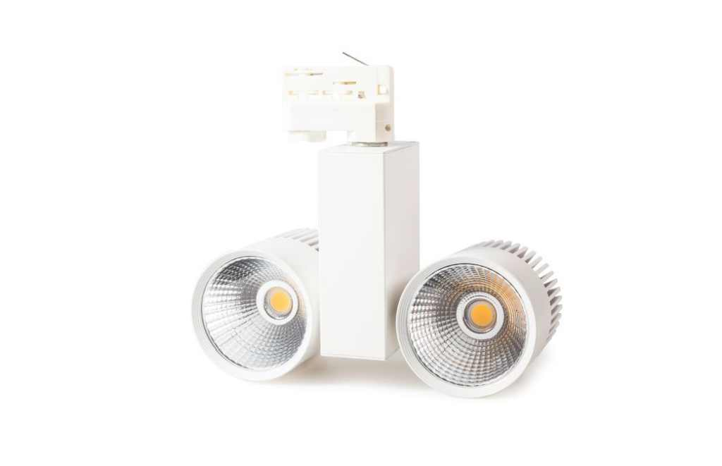 Tronix | 3 Fase | LED TRACKSPOT 2 x 30 Watt White | Warm Wit | 3000k | 38 Graden
