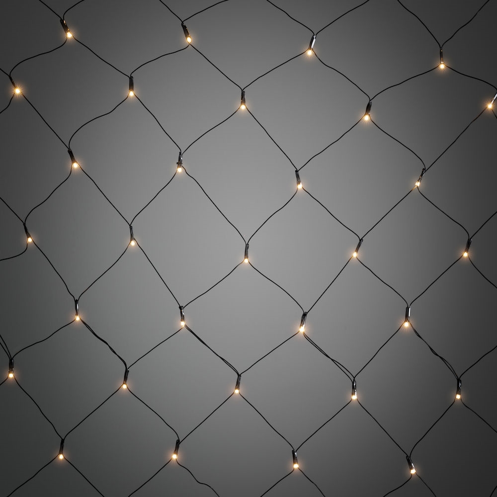 Kontsmide | Light net l | 250x150cm | 2700k WW LED | black wire | 120 LEDs | 220 Volt + Ad