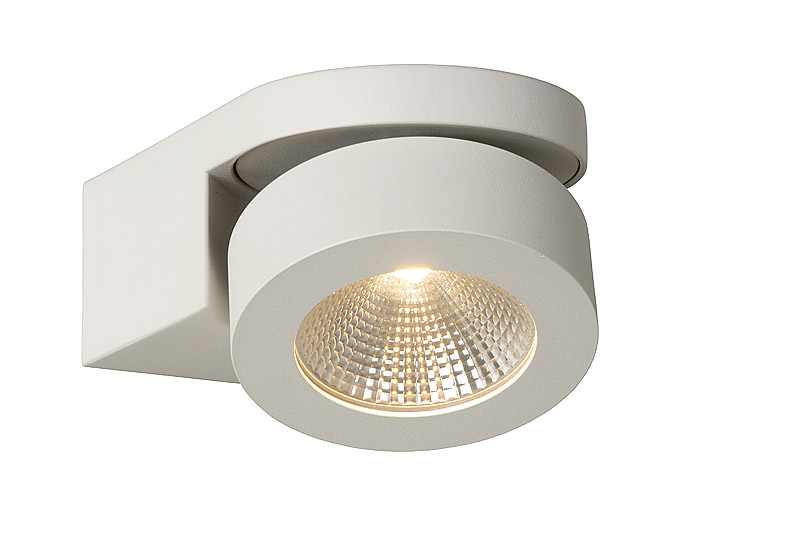 Lucide Spot / wandlamp | 1 x 5 Watt | 157 x 120 mm | LED MITRAX | Wit