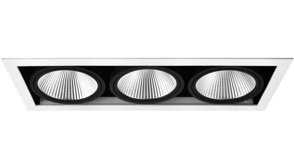 Driebubbel LED Downlight | 220 Volt | 3 x 10 Watt | Warm Wit | MD-251