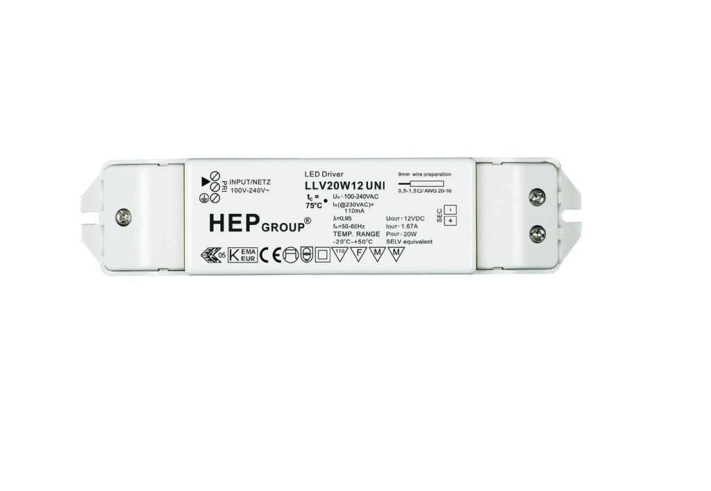 LED Voeding | 20 Watt | 12 Volt | Wit
