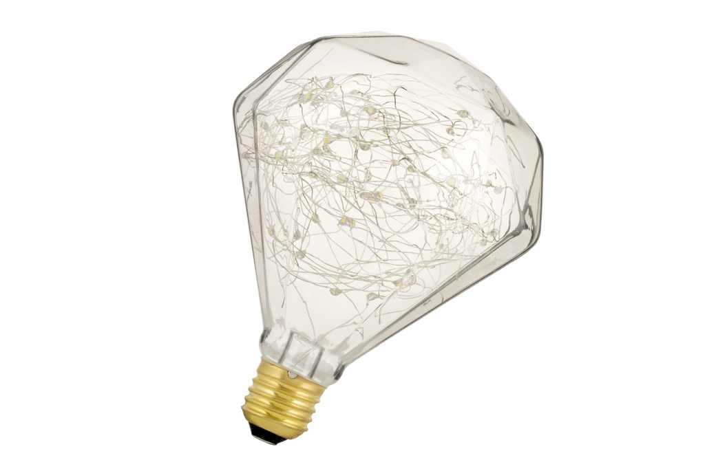 Bailey LED Globe | 230 Volt | wireled Diamant E27 1.5W 2500K Clear