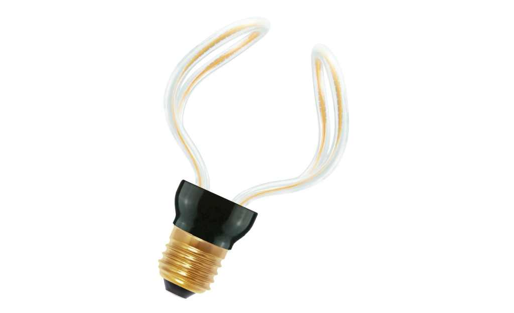 Bailey LED lamp | 230 Volt | Spiraled Silhouette Tulip E27 12W 2200K Dimm