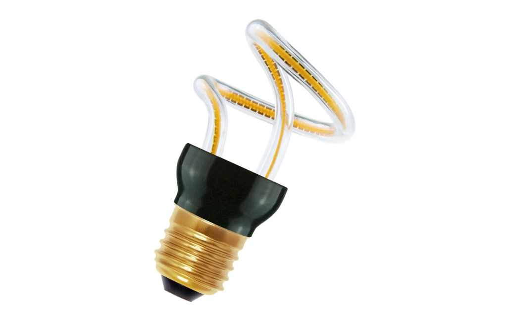 Bailey LED lamp | 230 Volt | Spiraled Silhouette Lily E27 8W 2200K Dimm
