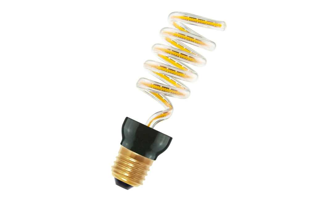 Bailey LED lamp | 230 Volt | Spiraled Silhouette Hyacinth E27 12W 2200K Dimm