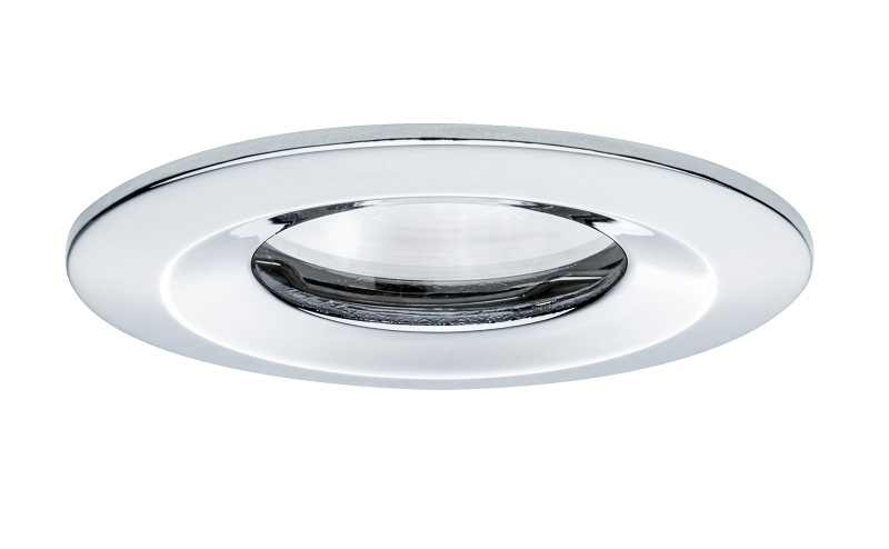 Paulmann | LED inbouwspot | 1 LEDs | Rond | Chroom | 7 W | Warm Wit | Nova | IP65