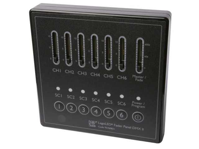 LED Controller | 220 Volt | Fader Panel DMX II, wall mount, 6 channel