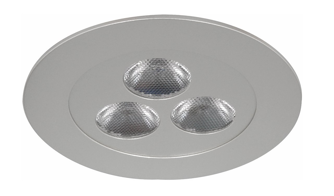 Malmbergs | LED inbouwspot | 3 LEDs | Rond | 3,6 W | Warm Wit (3000k) | Wit | MD-75 | NICK