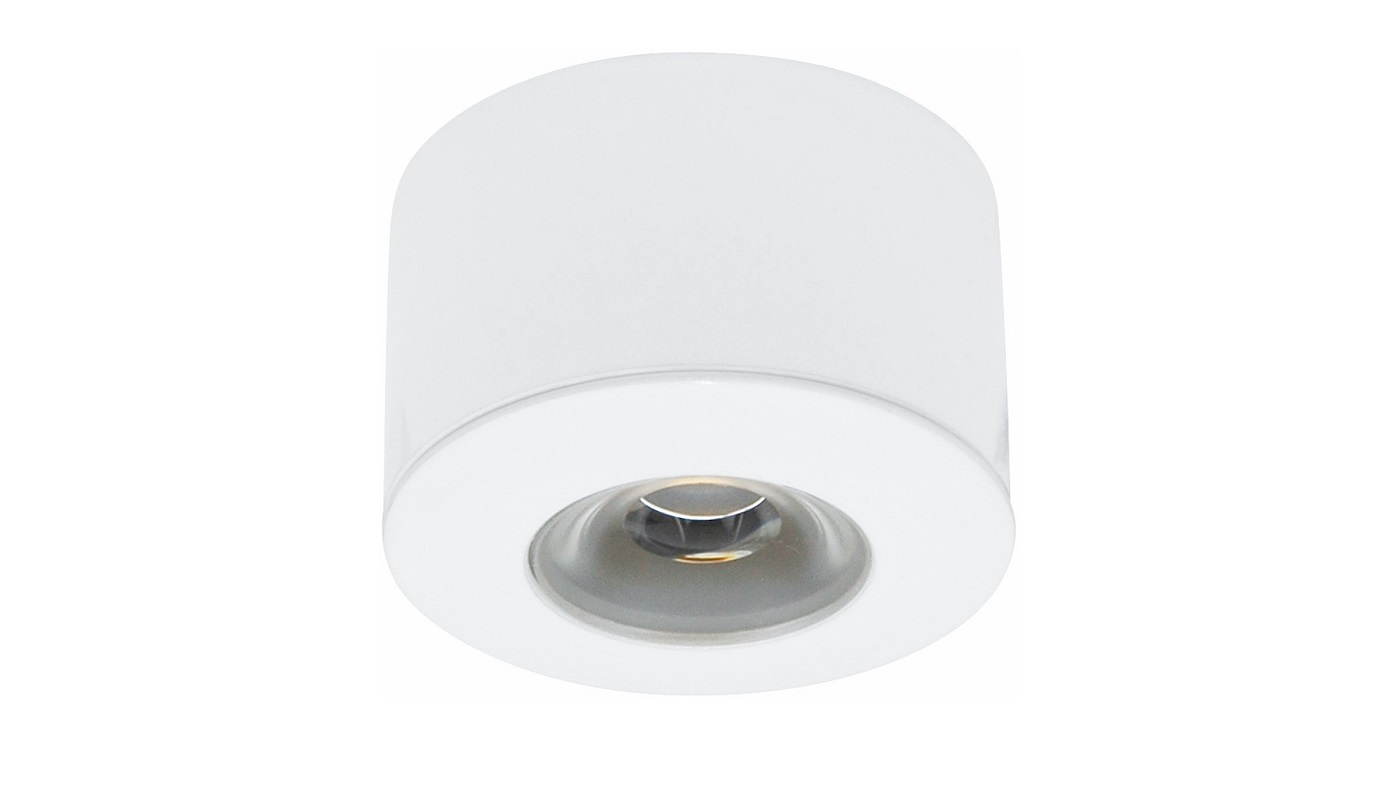 Malmbergs | LED inbouwspot | 1 LEDs | Rond | 1,2 W | Warm Wit (2700k) | MD-45 | Wit