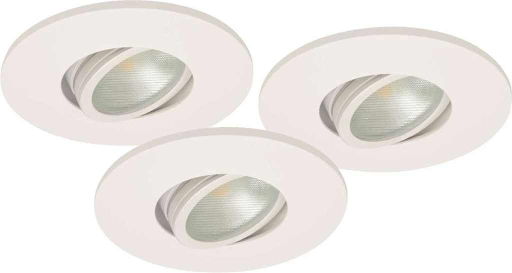Malmbergs | LED inbouwspot | 3 x Spot | Rond | 6 W | Warm Wit (2700k) | Wit | MD-350