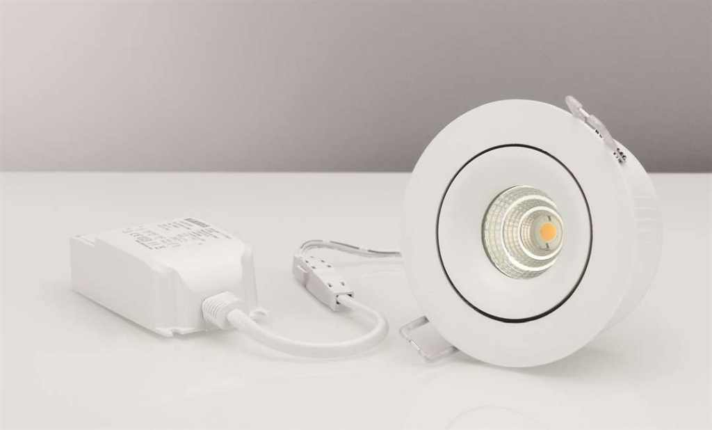 Malmbergs | LED inbouwspot | 1 LEDs | Rond | 7 W | Warm Wit (2700k) | Wit | MD-70