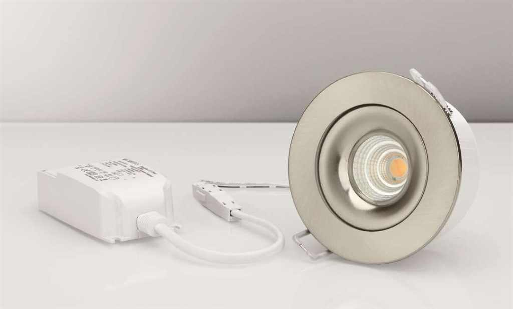 Malmbergs | LED inbouwspot | 1 LEDs | Rond | 7 W | Warm Wit (2700k) | RVS | MD-70