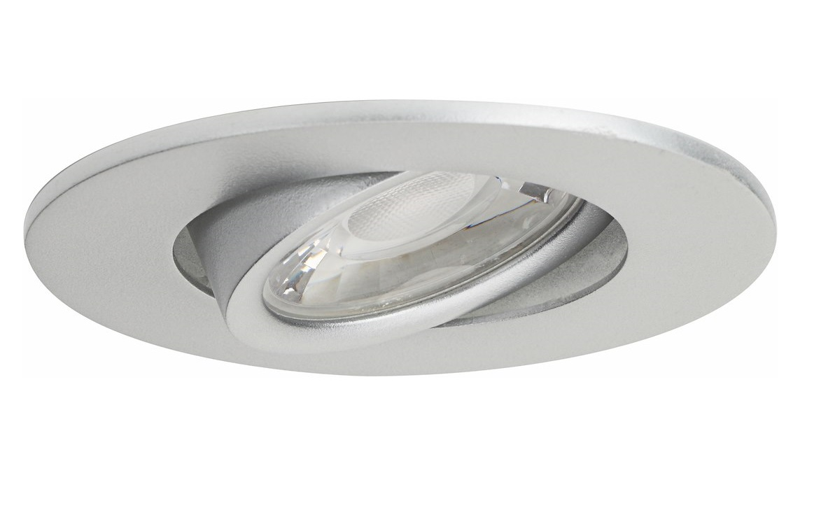 Malmbergs | LED inbouwspot | 1 LEDs | Rond | 5 W | Warm Wit (2700k) | Zilver | MD-880