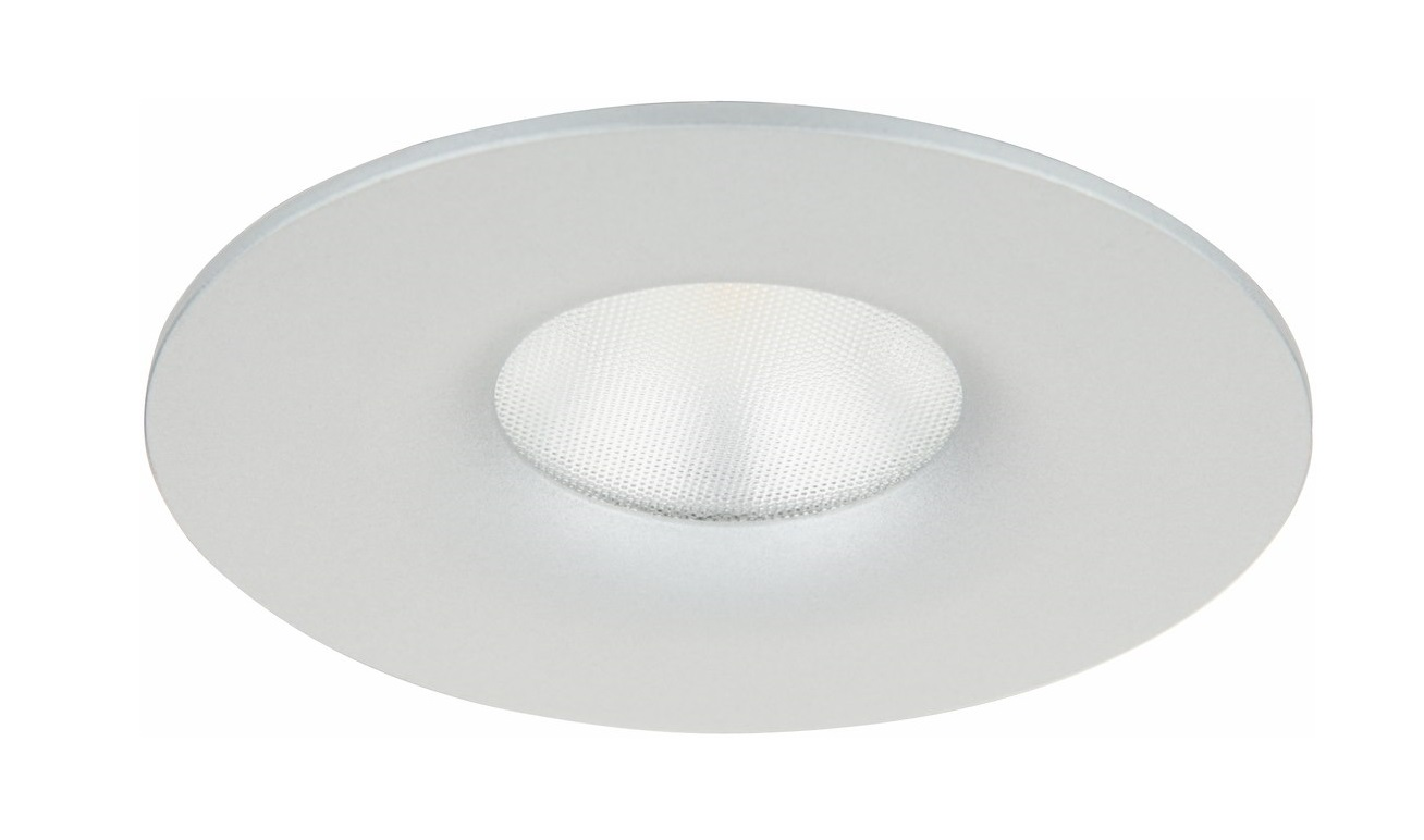 Malmbergs | LED inbouwspot | 1 LEDs | Rond | 4,6 W | Warm Wit (2700k) | Zilver | MD-77