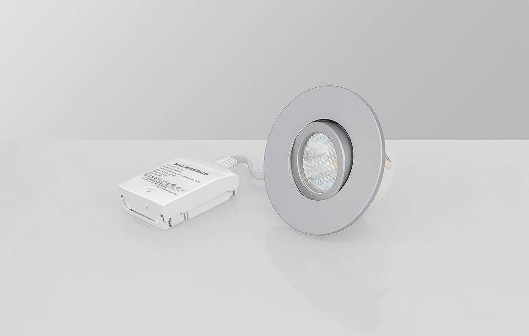 Malmbergs | LED inbouwspot | 1 LEDs | Rond | 6 W | Warm Wit (2700k) | Zilver | MD-541