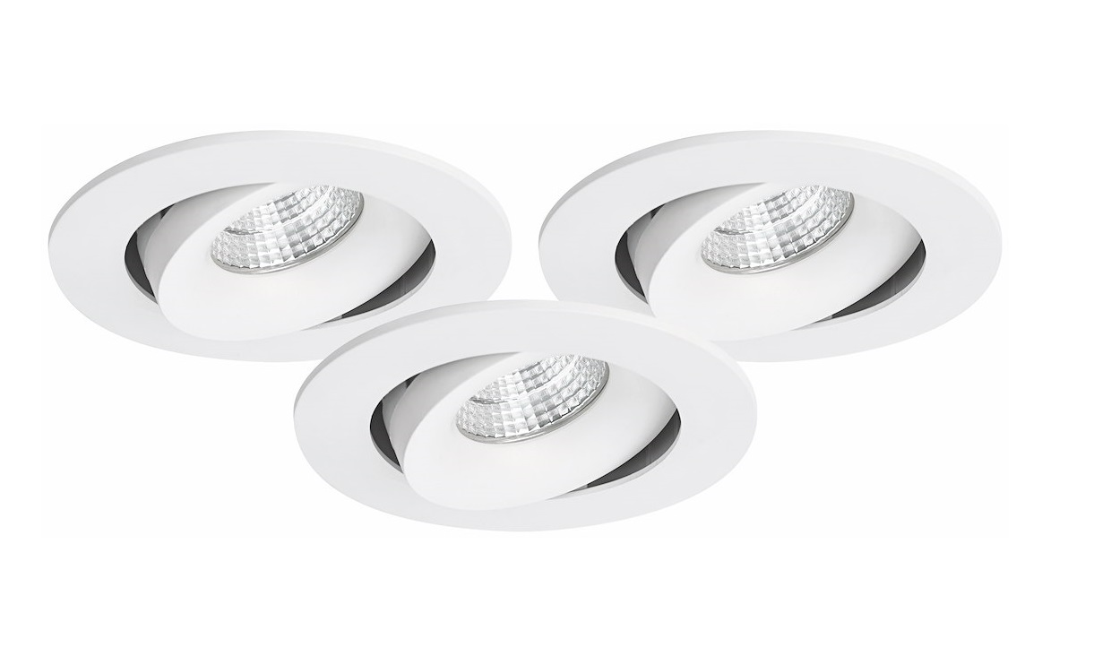 Malmbergs | LED inbouwspot | 1 LEDs | Rond | 7 W | Dim to Warm Wit (2700-5500K) | Wit | MD