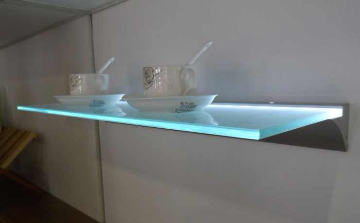 LED Profiel VI | Glass | 51 x 48-62  mm | 2 Meter | Glas / PVC 6 tm 20 mm + LED