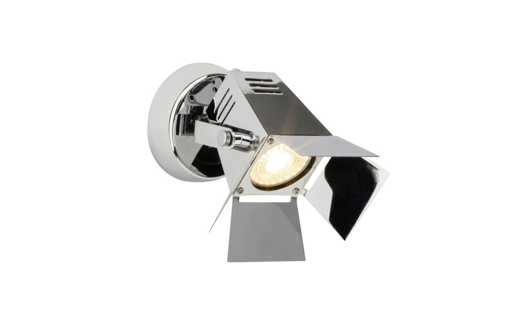 Brilliant Spot / wandlamp | 1 x 5 Watt | 150 x 170 mm | MOVIE 1 | Chroom