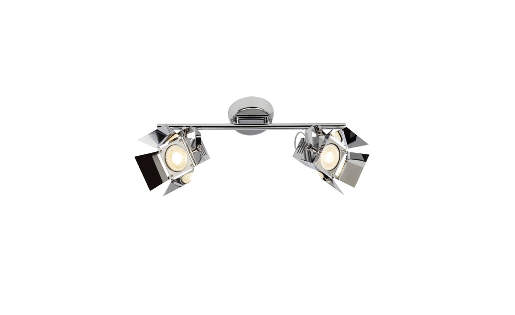 Brilliant Spot / wandlamp | 2 x 5 Watt | 165 x 390 mm | MOVIE 2 | Chroom