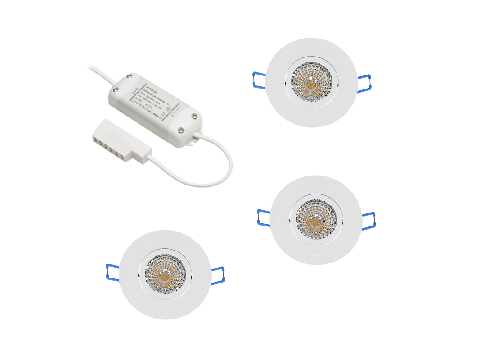 BudgetLine | LED inbouwspot | 3 LED spots | 240 Lm | Doe Het Zelf LED Kit | Warm Wit | BU0