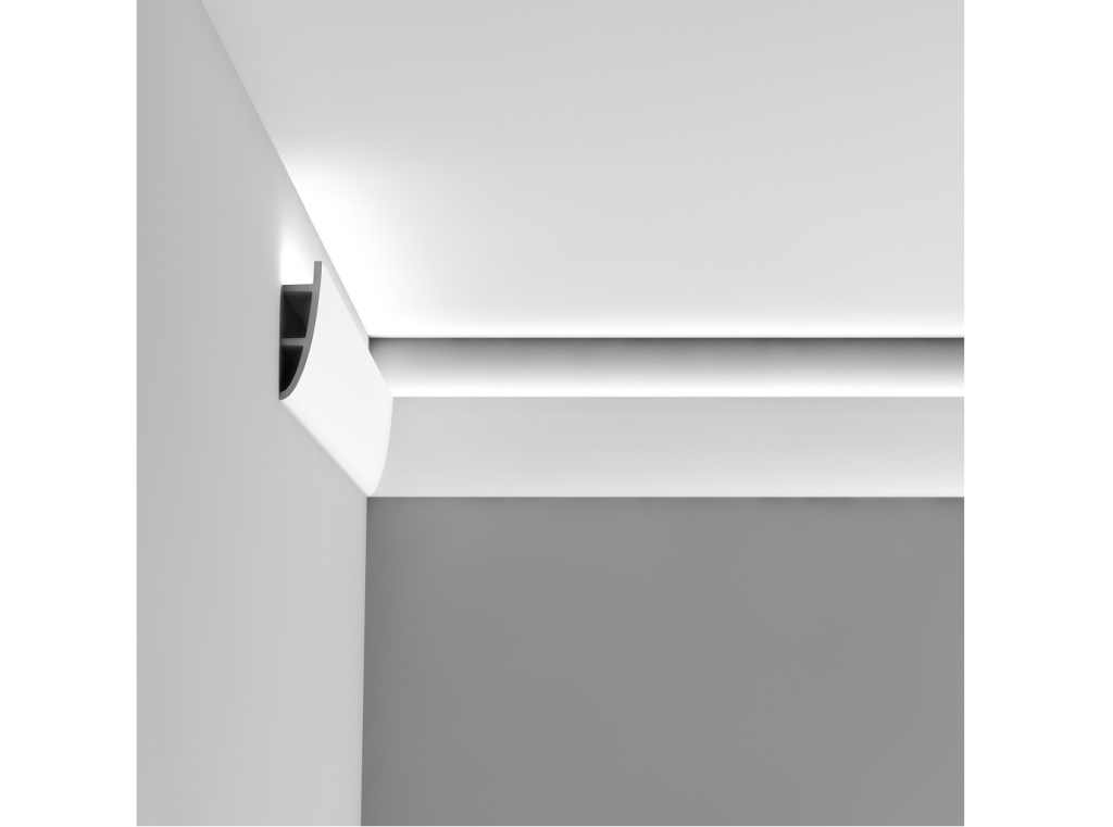 StucProfiel | LED strip plafondprofiel | 2000 x 180 x 50mm | Type Antonio C374 | WIT