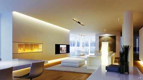 Woonkamer / eetkamer LED Verlichting en energie zuinige ...