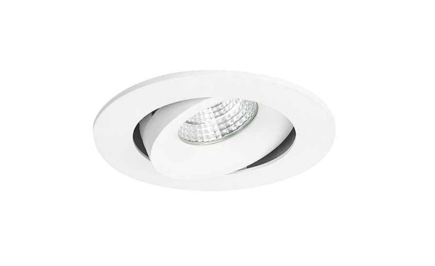 Malmbergs | LED inbouwspot | 1 LEDs | Rond | 7 W | Warm Wit (3000k) | Wit | MD-70