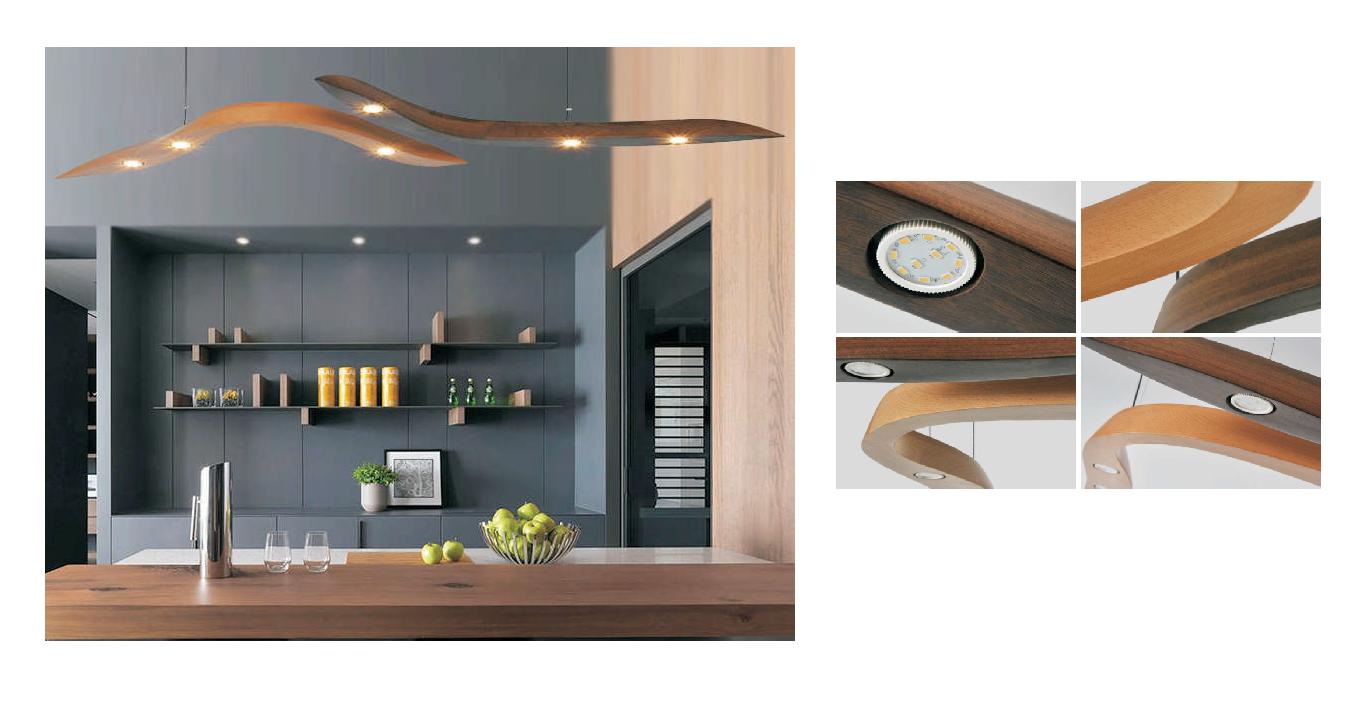 Led hanglampen hanglamp led verlichting en energie for Design lamp hout