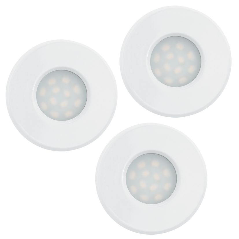 Eglo | LED inbouwspot | 3 LED Spot | 5 Watt | Warm Wit | Wit | 400 Lumen