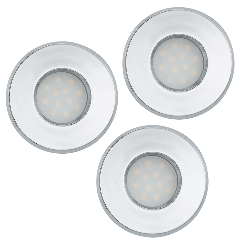 Eglo | LED inbouwspot | 3 LED Spots | 5 Watt | Warm Wit | Chroom | 400 Lumen