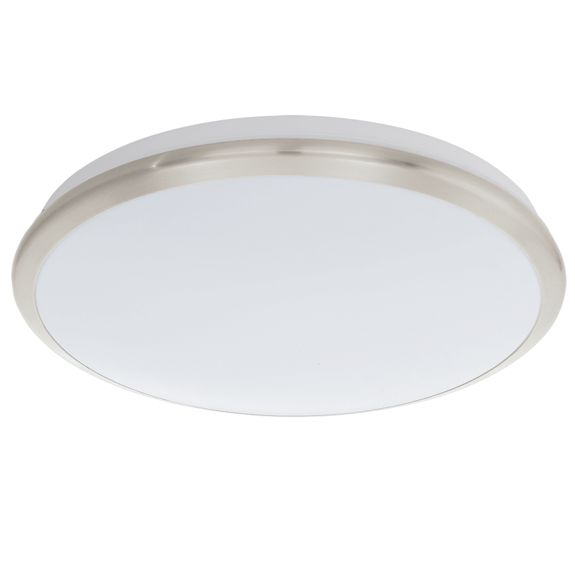 Eglo Plafonniere / wandlamp | 18 Watt | ¢385 mm | LED MANILVA | Warm Wit | Nikkel