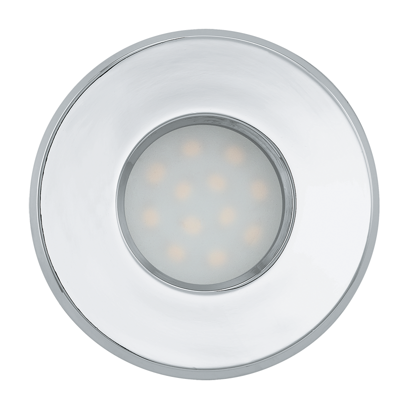 Eglo | LED inbouwspot | 1 LED Spot | 5 Watt | Warm Wit | Chroom | 400 Lumen