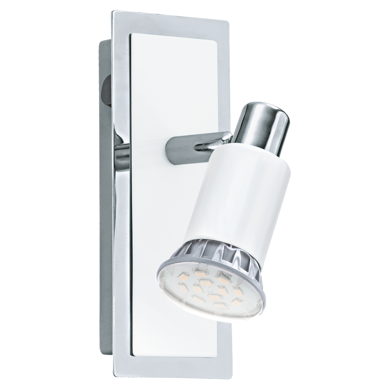 Eglo Spot / wandlamp | 1 x 5 Watt | 70 x 165 mm | LED ERIDAN | Wit / Chroom