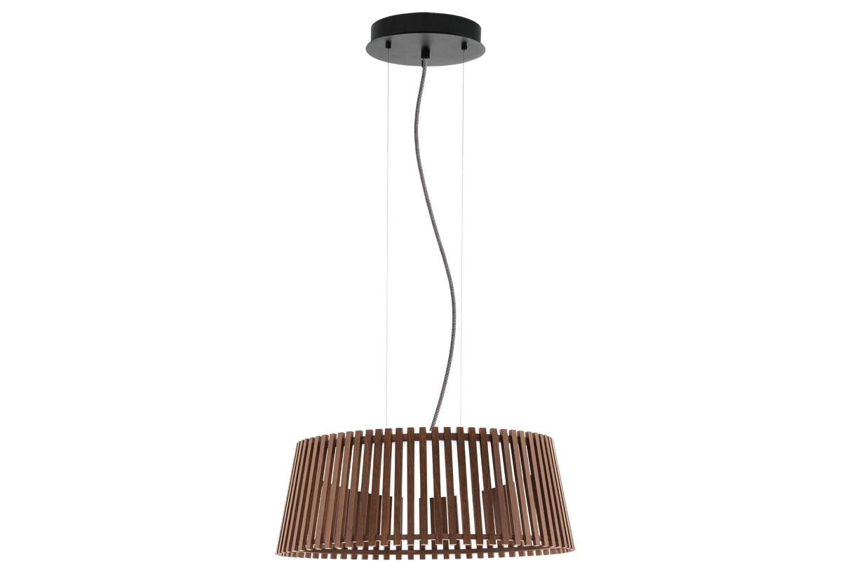 Eglo | Houten LED Hanglamp | 18 Watt | ROVERATO | Noten | Ø: 470 mm