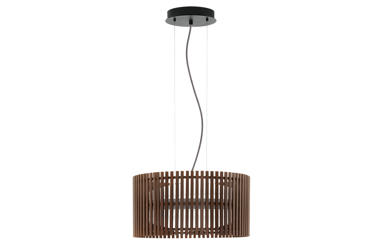 Eglo | Houten LED Hanglamp | 2x18 Watt | ROVERATO | Noten | Ø: 420 mm