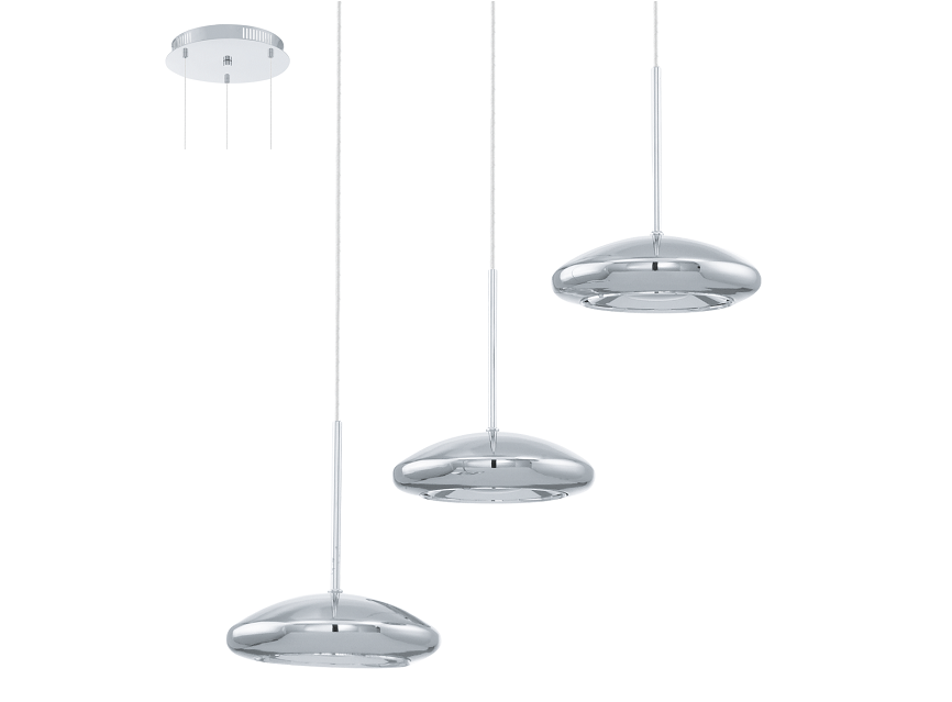 Eglo | Chrome LED Hanglamp | 3 x 4,5 Watt | TARUGO