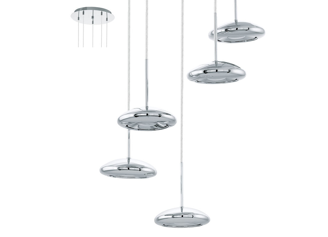 Eglo | Chrome LED Hanglamp | 5 x 4,5 Watt | TARUGO