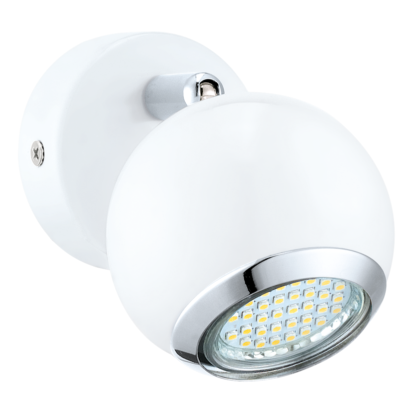 Eglo Spot / wandlamp | 1 x 3 Watt | 70 mm | LED BIMEDA | Wit / Chroom