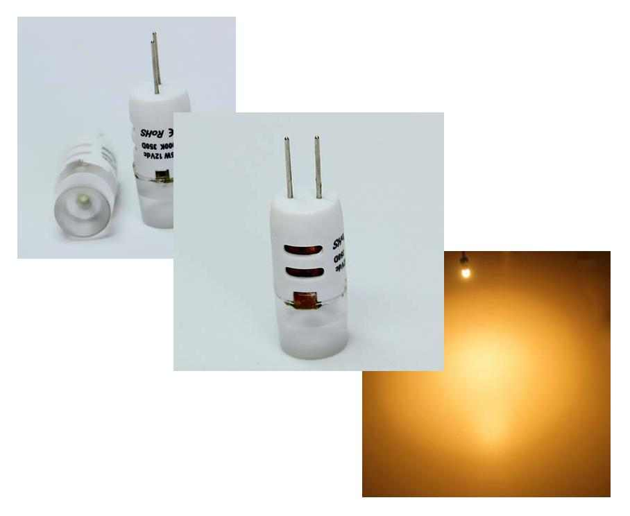 LED steeklampje | 12 Volt | 1,5 W | VV 10-15 W | Warm Wit | G4 | 110 Lumen