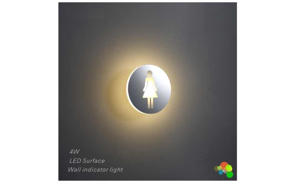 LEDw@re | LED wandarmatuur | 1 LEDs | Rond | Warm Wit | LEDw@re | WC Vrouw
