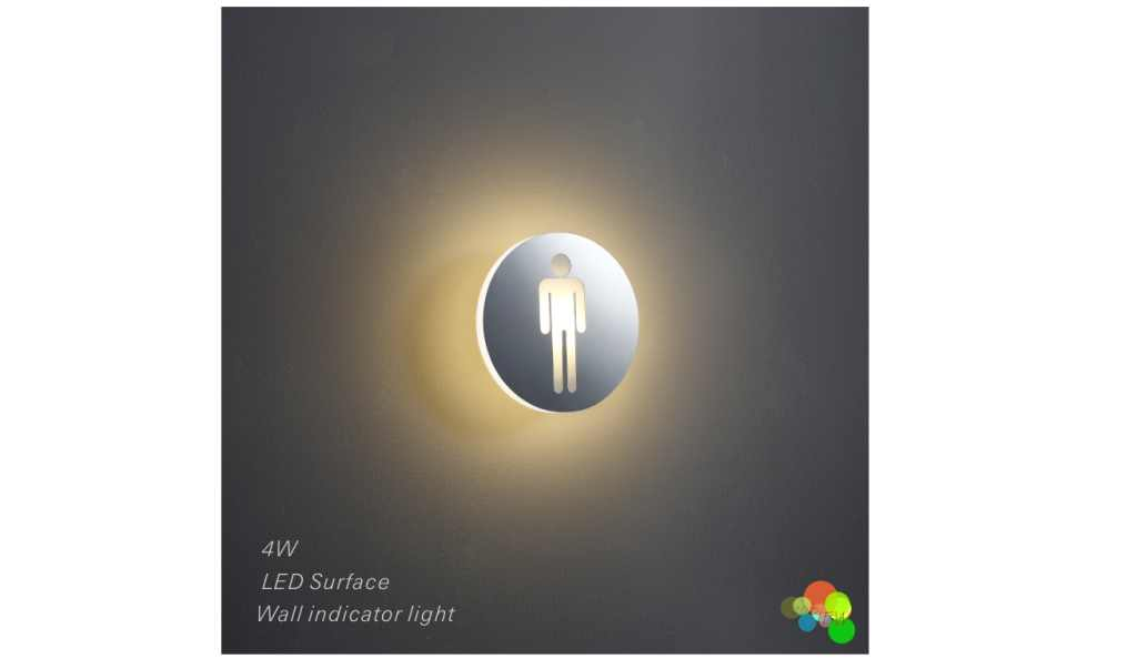 LEDw@re | LED wandarmatuur | 1 LEDs | Rond | Warm Wit | LEDw@re | WC Man