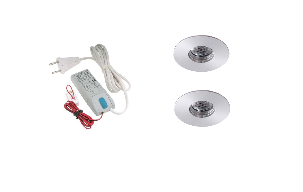 LEDware | LED inbouwspot | 2 LED spots | 180 Lm | Doe Het Zelf LED Kit | Warm Wit | 111B