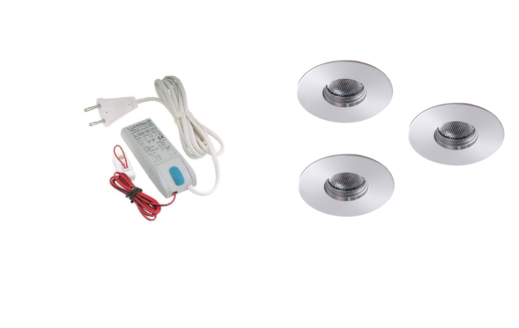 LEDware | LED inbouwspot | 3 LED spots | 180 Lm | Doe Het Zelf LED Kit | Warm Wit | 111B