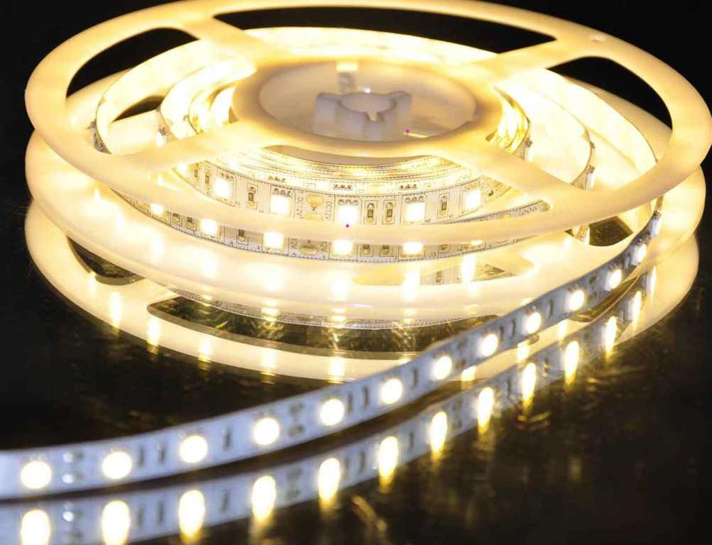LEDware SMD LEDstrip | Waterdicht | 24 Volt | 2,4 Watt | 30 LEDs | 15 M | Warm Wit  | IP68