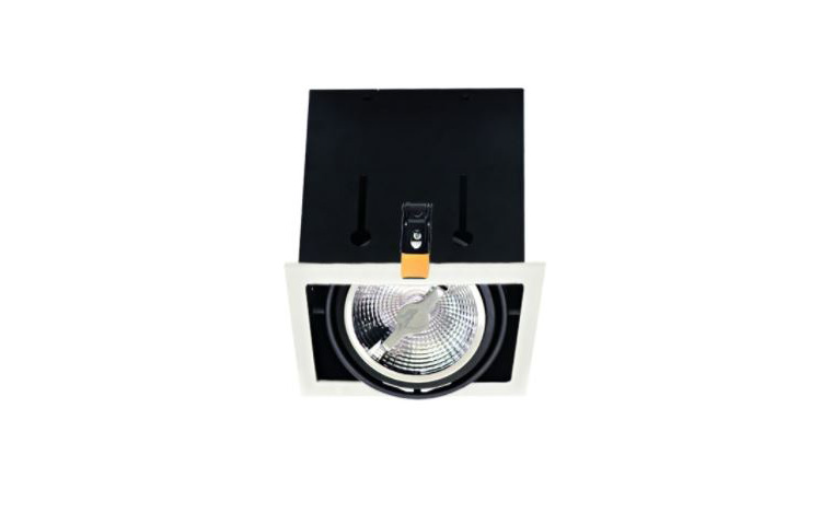 Enkel Downlight | 1 x 15 Watt | AR111 | 165 x 165 | Dim to Warm | 2200-3000K | Zwart